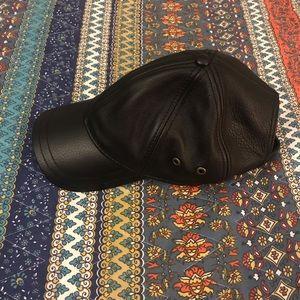Leather Stetson Baseball Cap